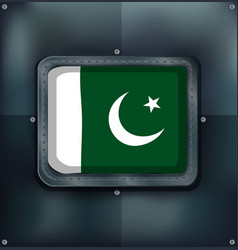 icon design for flag of pakistan vector image