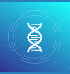 Dna chain icon sign vector