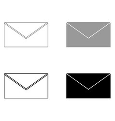Mail the black and grey color set icon vector