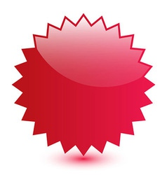 Red blank label vector image