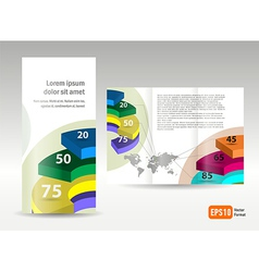 Brochure design template spiral diagram element vector
