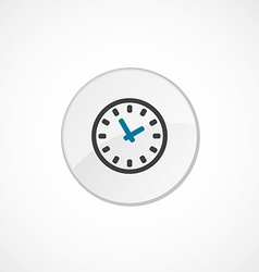 Time icon 2 colored vector