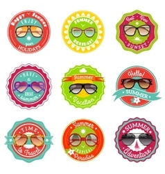 Sun glasses summer sale labels vector