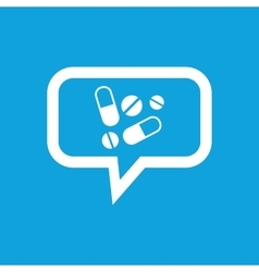 Medicine message icon vector