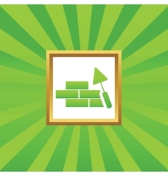 Building wall picture icon vector