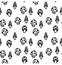 Mushrooms seamless pattern vector