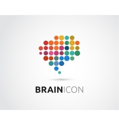 Brain Creative mind head learning icon vector image