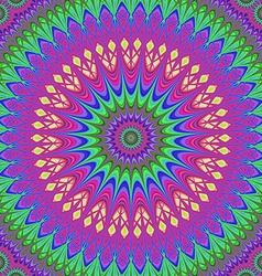 Abstract geometric oriental fractal mandala vector image vector image