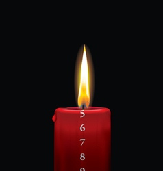 Advent candle red 5 vector