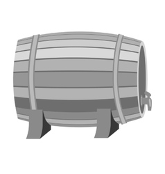 Barrel of wine icon in monochrome style isolated vector