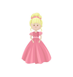 beautiful blonde soft princess doll in a pink vector image vector image