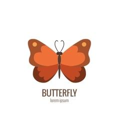 cartoon butterfly logo vector image vector image