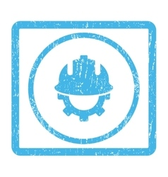 Development helmet icon rubber stamp vector