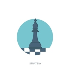 flat background with chess vector image