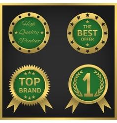 golden seals-stickers vector image