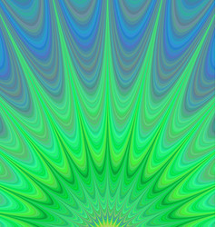 Green sunrise - colorful fractal background vector