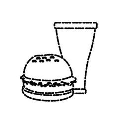 Hamburger and soda vector