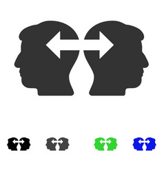Heads exchange arrows flat icon vector