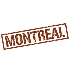 Montreal brown square stamp vector