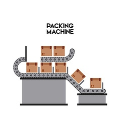 packing machine vector image