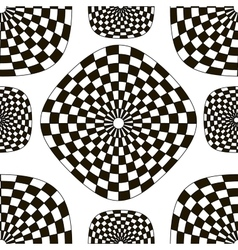 Pattern of black and white checkered squares vector
