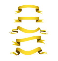 realistic gold ribbons tape flag banner elegance vector image vector image