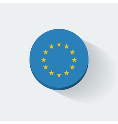 Round icon with flag of European Union vector image