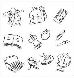 school design elements vector image