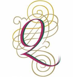 script letter q vector image