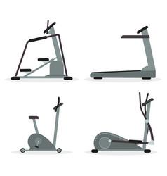 set of cardio machines vector image