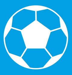 soccer ball icon white vector image vector image