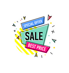 Special offer sticker in trendy linear style vector