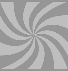 Spiral background from grey curved ray stripes vector