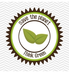 think green isolated icon design vector image