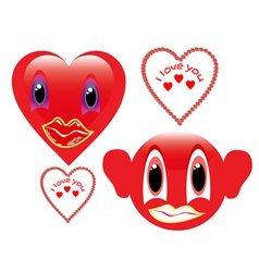 two red smiley vector image vector image