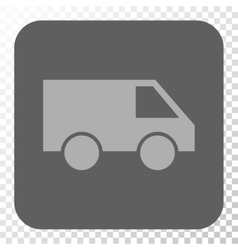 Van Rounded Square Button vector image
