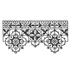 Venetian guipure lace border form of embroidery vector