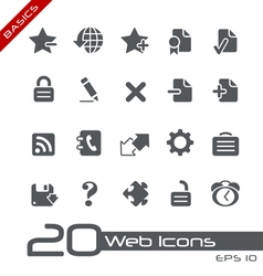 Web 20 basics series vector