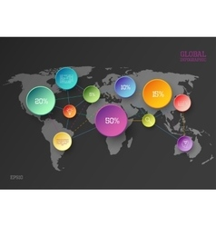 World map infographic concept vector