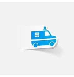 Realistic design element police car vector
