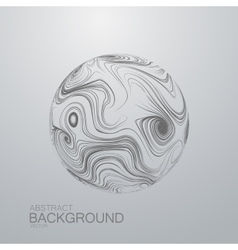 Abstract 3d curl sphere with swirled stripes vector