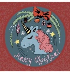 colored unicorn vector image