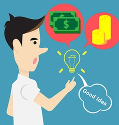 Concept idea creativity for money and success vector