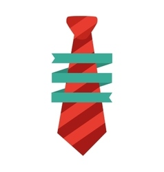 Necktie man wrap ribbon decorative father day vector
