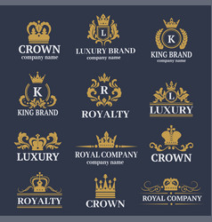 Luxury boutique calligraphy logo best selected vector