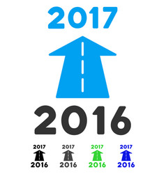 2017 future road flat icon vector
