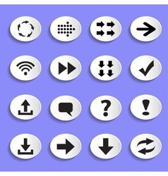 Set of Arrows on Buttons vector image