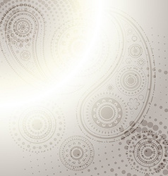 Indian paisley design background vector