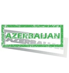 Green outlined azerbaijan stamp vector