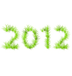 illustration of green 2012 year ecology con vector
